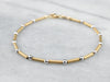 Two Tone 14K Gold Beaded Bracelet