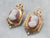 Antique Mary Queen of Scots Cameo Earrings