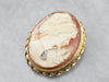 Mid Century Diamond Cameo Pin or Pendant