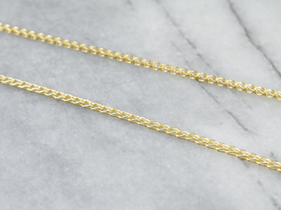 18K Gold Woven Box Chain Necklace