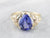 Pear Cut Tanzanite Diamond Gold Ring