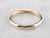 Vintage 18K Gold Plain Wedding Band