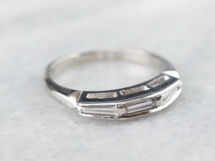 Baguette Cut Diamond Platinum Wedding Band