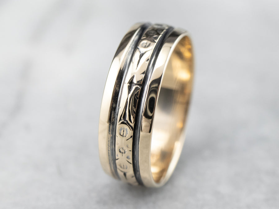 Vintage Floral Wedding Band