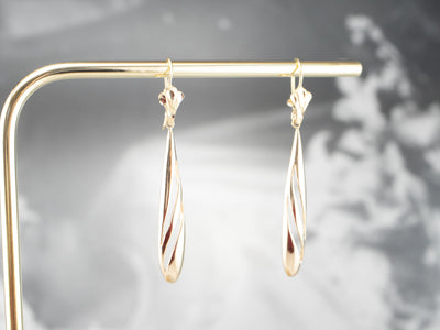 Teardrop Gold Drop Earrings