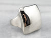 Square Domed 14K White Gold Statement Ring