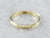 Antique Green Gold Engraved Child's Band