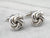Sterling Silver Twisted Knot Cufflinks