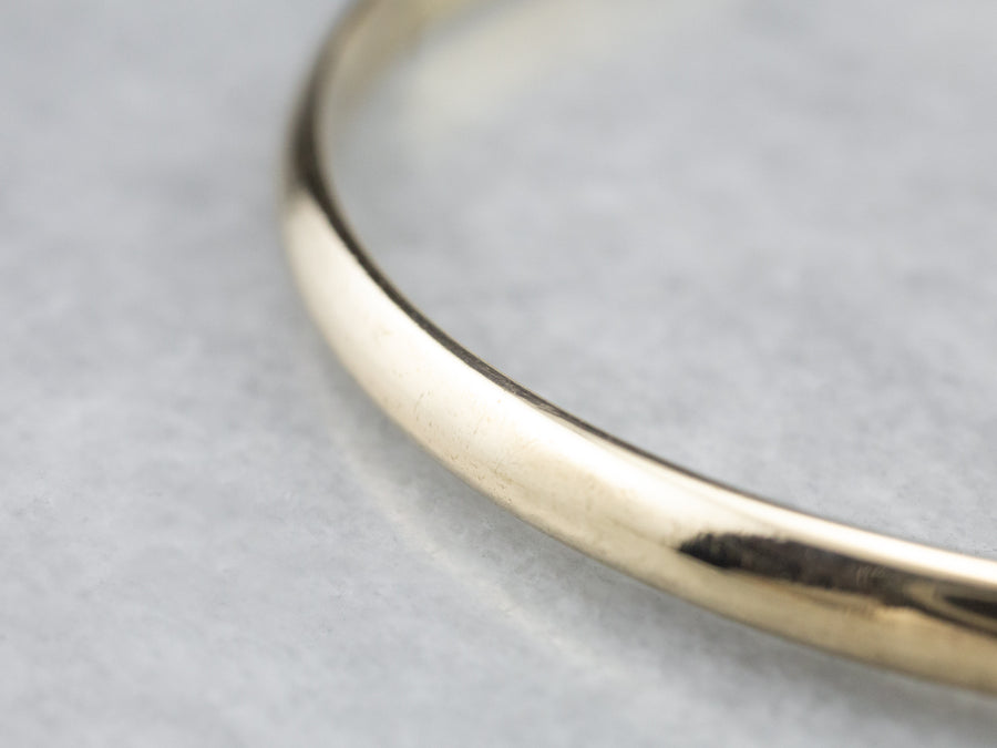 14K Gold Plain Bangle Bracelet