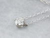 Diamond Solitaire Pendant White Gold Necklace