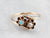 Victorian Era Opal and Old Mine Cut Diamond Ring