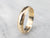Men's Engraved Gold Wedding Band