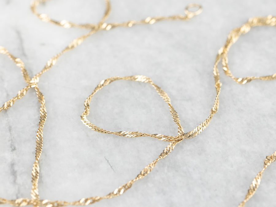 Yellow Gold Rope Twist Chain