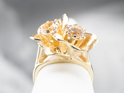 Double Bloom Morganite Cocktail Ring
