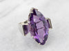 Marquise Cut Amethyst Cocktail Ring