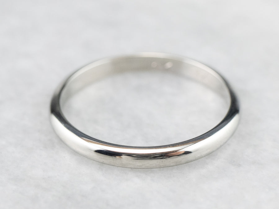 Sleek White Gold Band