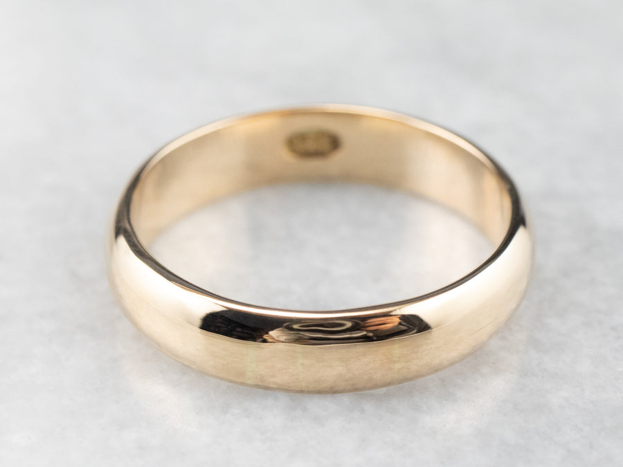 Men's Antique Gold Band