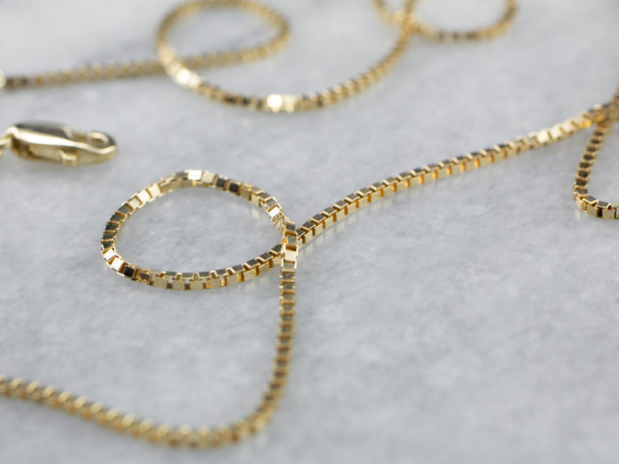 Yellow 14K Gold Box Chain