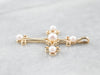 Pearl Gold Cross Pendant