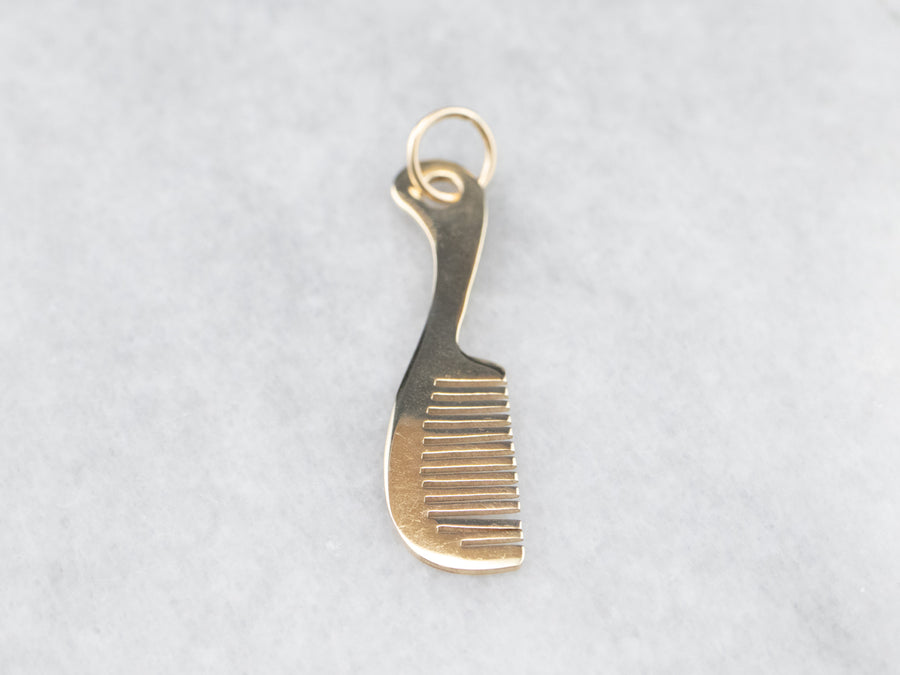 14K Gold Hair Comb Charm