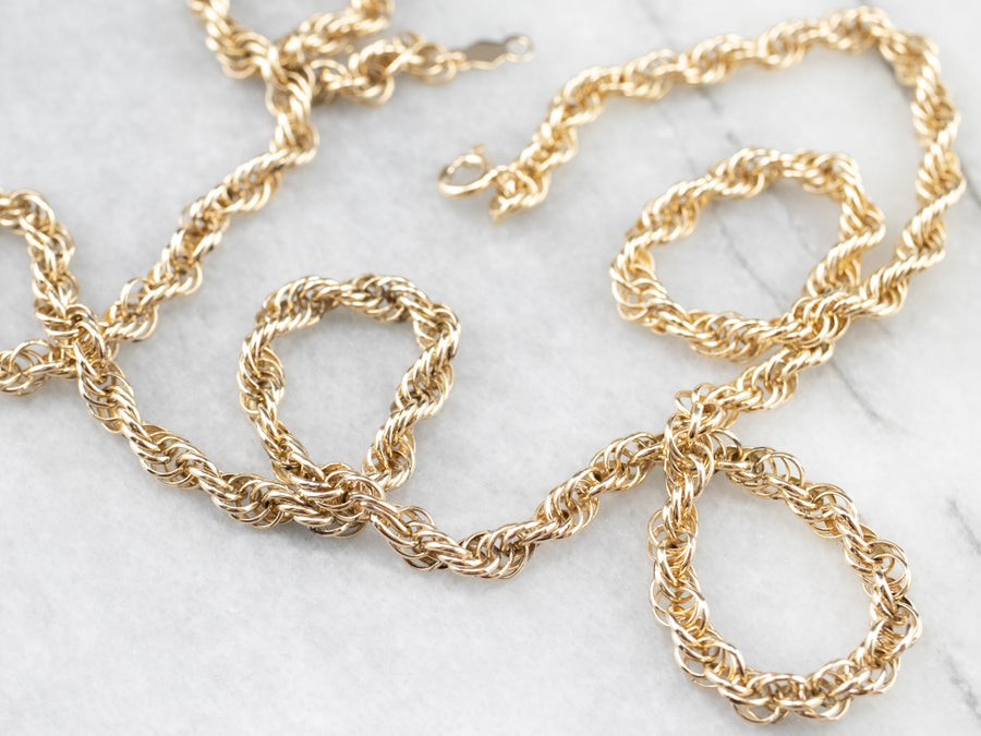 14K Gold Twisting Rope Chain