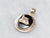 Vintage Rainbow Girls Enamel Black Onyx Rose Gold Pendant