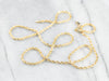 14K Gold Sparkling Fancy Chain Necklace