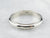 Vintage 14K White Gold Plain Wedding Band