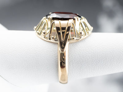 Mid Century Garnet Cocktail Ring