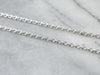 14K White Gold Unisex Cable Chain Necklace