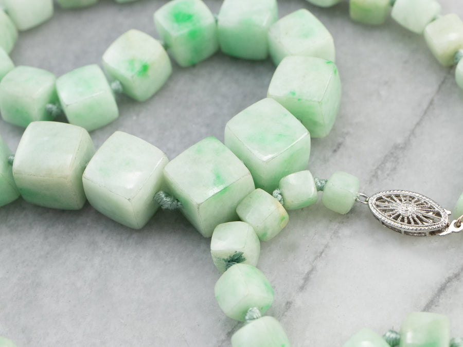 Vintage Beaded Jade Necklace