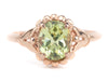 Rose Gold Mali Garnet Abigail Ring by Elizabetrh Henry