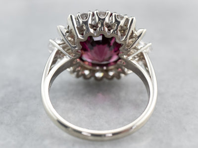 Rhodolite Garnet and Diamond Cocktail Ring
