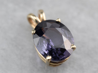 Gold Spinel Solitaire Pendant