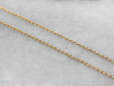 Vintage Gold Round Link Rolo Chain