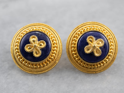Floral High 22K Gold Stud Earrings