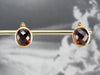 Bold Gold Garnet Stud Earrings