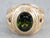 Men's Green Tourmaline and Ruby Ring