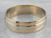 Men's Two Tone Gold Wedding Band