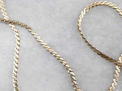 Yellow 14K Gold Serpentine Chain