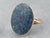 Oval Lapis Gold Statement Ring