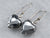 Sterling Silver Hematite Heart Drop Earrings