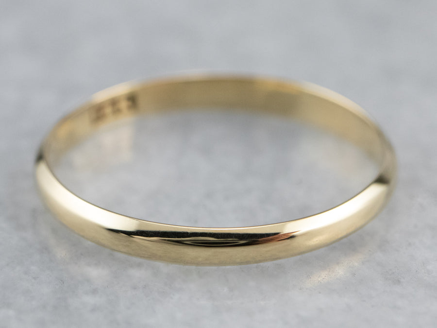 Thin Yellow 18K Gold Band