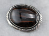 Sterling Silver Jasper Brooch or Pendant