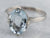 18K White Gold Aquamarine Solitaire Ring