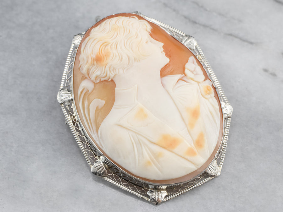 A Gentlemen's Cameo Brooch or Pendant