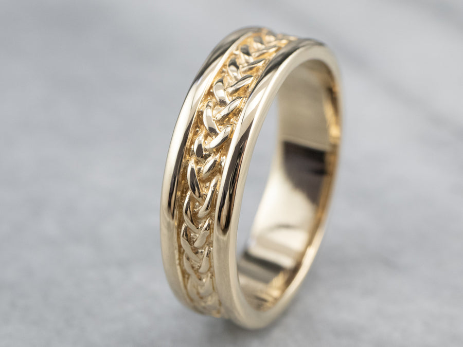 Vintage Gold Braided Pattern Band