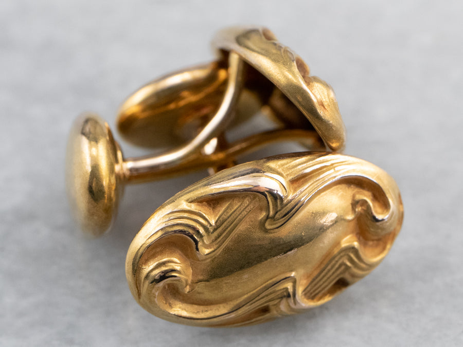 Antique Bloomed Gold Cufflinks