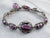 Antique Faceted Glass Link Bracelet