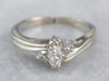 Marquise Cut Diamond White Gold Engagement Ring